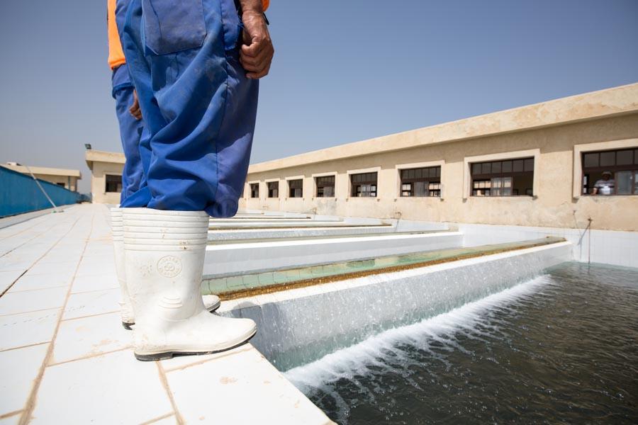 clarifying ponts at Nobareya water treatment plant © GIZ/Jan Bosch