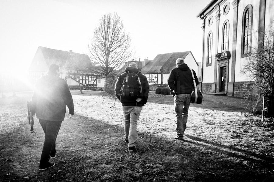 Fotoprojekt mit jungen Syrern in neuen Heimat Stadtallendorf, 2016 © Jan Bosch