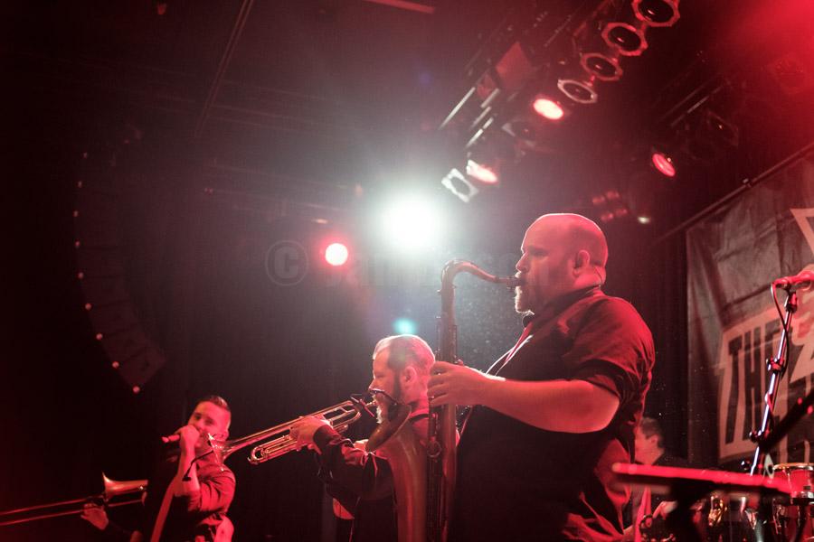 Die deutsche Ska-Band The Busters bei einem Auftritt im Kulturladen KFZ in Marburg, 12.2.2017. © Jan Bosch