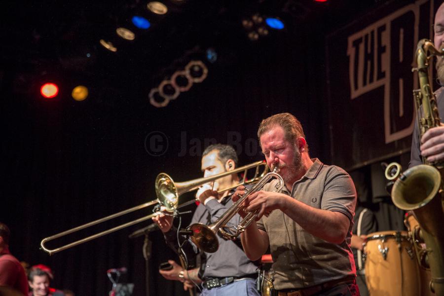 Die deutsche Ska-Band The Busters bei einem Auftritt im Kulturladen KFZ in Marburg, 19.1.2018. © www.janbosch.de