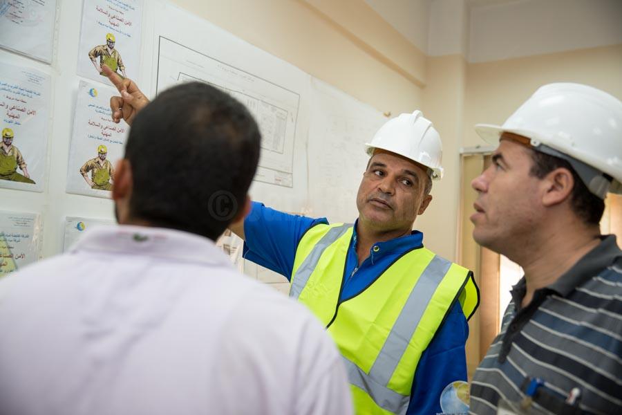 safety instructions at Nobareya water treatment plant © GIZ/Jan Bosch