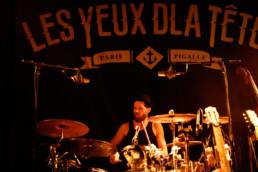Die französische Band Les Yeux d'la Tête bei einem Konzert im ausverkauften Kulturladen KFZ in Marburg, 12.2.2019. © Jan Bosch
