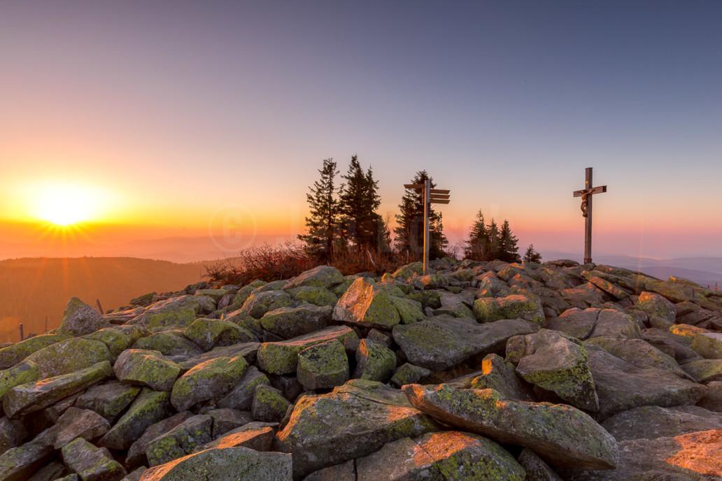 Gipfel des Lusen im Nationalpark Bayerischer Wald, Deutschland. © Jan Bosch