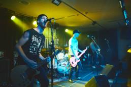 Die deutsche Punkband Alarmsignal spielt ein Konzert im Kulturladen KFZ in Marburg am 8.6.2019.