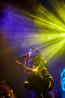 Die ukrainische Metal Band Jinjer bei einem Konzert im Kulturzentrum KFZ in Marburg am 20.8.2019 © Jan Bosch