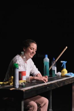 Anna Rausch in Die Barbaren von Nino Haratischwili am Hessischen Landestheater Marburg. © Jan Bosch