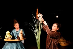 Lisa Grosche & Ioana Nitulescu spielen Figurentheater nach dem Kinderbilderbuch von Lorenz Pauli und Kathrin Schärer  am HLTM in Marburg. 19.9.2020. © www.janbosch.de