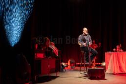 Die beiden Musiker Ben Knop und Michael Lohmann vom HLTM gehen gemeinsam auf eine musikalische Reise: Der Film in deinem Kopf bekommt einen Soundtrack – für jeden Moment das richtige Lied oder für den richtigen Moment den passenden Song. © Jan Bosch